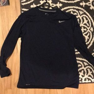 Nike navy blue long sleeve dry fit